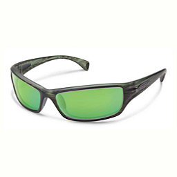 SunCloud Hook Sunglasses, Matte Green Stripe-Green Mirror, 256