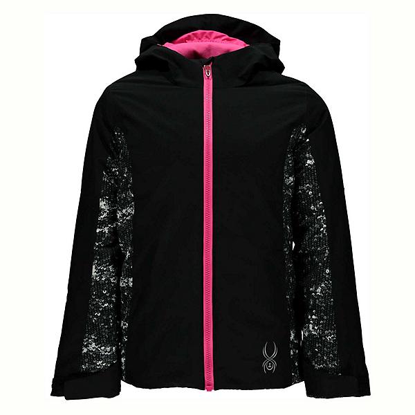 Spyder Charm Girls Ski Jacket (Previous Season), Black-Sequins Black Print, 600
