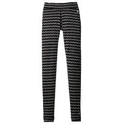 SmartWool Merino 250 Base Layer Patterned Womens Long Underwear Pants, Black-Charcoal, 256