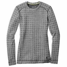 SmartWool Merino 250 Base Layer Pattern Crew Womens Long Underwear Top, Dogwood White-Black, 256