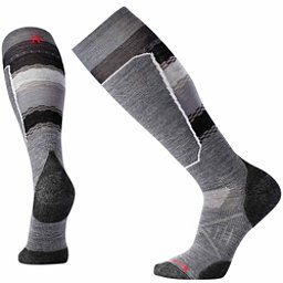SmartWool PhD Ski Light Elite Pattern Ski Socks, Medium Gray, 256