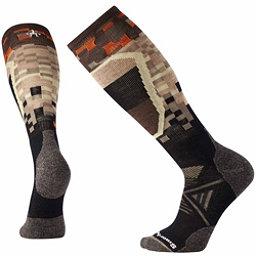 SmartWool PhD Ski Medium Pattern Ski Socks, Black, 256