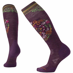 SmartWool PhD Ski Light Elite Pattern Womens Ski Socks, Bordeaux, 256