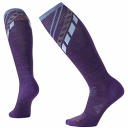 SmartWool PhD Ski Ultra-Light Pattern Womens Ski Socks, Mountain Purple, 256