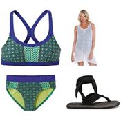 Prana Coralie Bathing Suit Top & Prana Zuri Bottom Bathing Suit Set, , medium