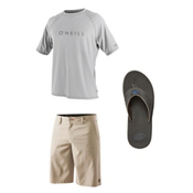 O'Neill 24-7 Tech Short Sleeve Crew & O'Neill Loaded Board Shorts Set, , medium