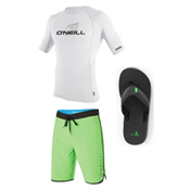 O'Neill Skins Short Sleeve Crew & O'Neill Santa Cruz Scallop Board Shorts Set, , medium