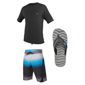 O'Neill Skins HyperFreak Rash Guard & O'Neill SuperFreak Fader Board Shorts Set, , medium