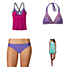Prana Atla Tankini Bathing Suit Top & Prana Lani Bottom Bathing Suit Set
