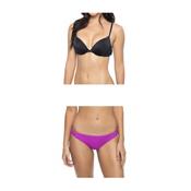 Oakley Core Solids Molded Cup Underwire Bathing Suit Top & Oakley Core Solids Tab Side Bottom Bathing Suit Set, , medium