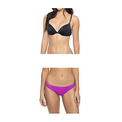 Oakley Core Solids Molded Cup Underwire Bathing Suit Top & Oakley Core Solids Tab Side Bottom Bathing Suit Set, , large