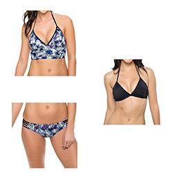 Oakley Wildflowers Midkini Bathing Suit Top & Oakley Wildflowers Spider Bottom Bathing Suit Set, , 256