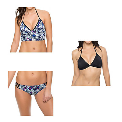 Oakley Wildflowers Midkini Bathing Suit Top & Oakley Wildflowers Spider Bottom Bathing Suit Set, , large
