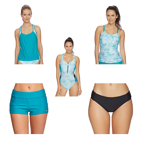 Next Serenity Double Up Tankini Bathing Suit Top & Next Good Karma Jump Start Bottoms Bathing Suit Set, , 600