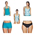 Next Serenity Double Up Tankini Bathing Suit Top & Next Good Karma Jump Start Bottoms Bathing Suit Set