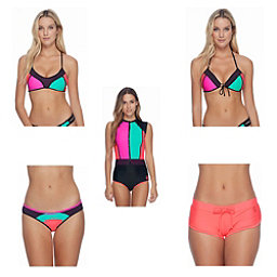 Body Glove Borderline Alani Bathing Suit Top & Body Glove Borderline Surf Rider Bottoms Bathing Suit Set, , 256