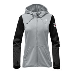 The North Face International Collection Half Dome Full Zip Womens Hoodie, High Rise Grey-TNF Black, 256