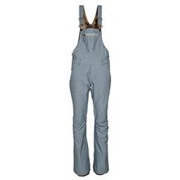 686 Black Magic Insulated Overall Womens Snowboard Pants, Light Blue Denim, 256