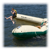 Rave Aqua Launch Attachment - Northwood's Edition Water Trampoline Attachment, Green Sand, medium