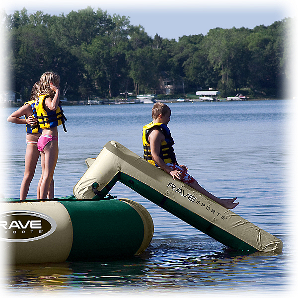 Rave Aqua Slide Small - Northwood's Edition Water Trampoline Attachment, , 600