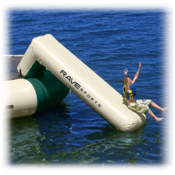 Rave Aqua Slide Large Attachment - Northwood's Edition Water Trampoline Attachment, Green Tan, medium