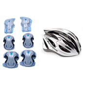 Rollerblade Lux Activa 3 Pad Pack with Rollerblade Performance Womens Helmet, , medium