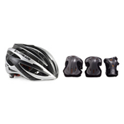 Rollerblade Lux Plus 3 Pad Pack with Rollerblade Performance Race Helmet, , medium