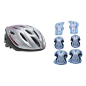 Rollerblade Lux Activa 3 Pad Pack with Rollerblade Workout Womens Helmet, , medium