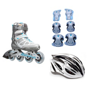 Rollerblade Spark 80 Alu Womens with Lux Activa 3 Pad Pack, , medium