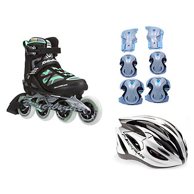 Rollerblade Macroblade 90 Womens with Lux Activa 3 Pad Pack, , large