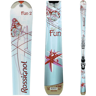 Rossignol Fun 2 With Saphir 100 Womens Skis with Rossignol Saphir 2 Bindings, , large