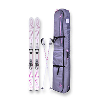 K2 K2 Breast Cancer Awareness Ski Package Womens Skis with Marker IBX 11.0 Ti Bindings, , large