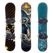 Used Basic Boy's Snowboard and Binding Package, , medium