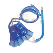 Leader Dolphin Combo Kids Snorkel Set, , medium