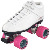 Riedell R3 Girls Speed Roller Skates, White, medium