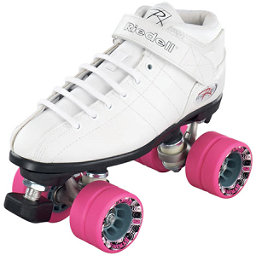 Riedell R3 Girls Speed Roller Skates, White, 256