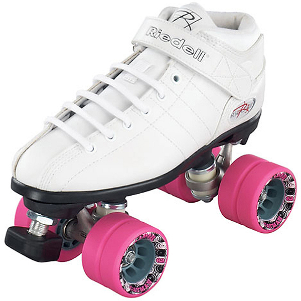 Riedell R3 Girls Speed Roller Skates, White, 600