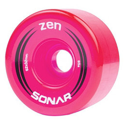 Riedell Zen Roller Skate Wheels - 4 Pack, Pink, 256