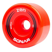 Riedell Zen Roller Skate Wheels - 4 Pack, Red, medium