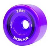 Radar Zen Roller Skate Wheels - 4 Pack, Purple, medium