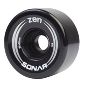 Riedell Zen Roller Skate Wheels - 4 Pack, Black, medium