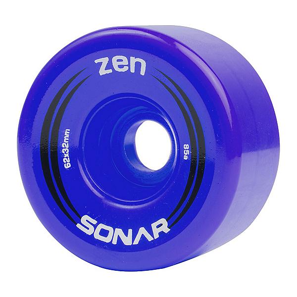Riedell Zen Roller Skate Wheels - 4 Pack, Blue, 600