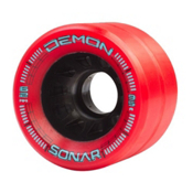 Riedell Demon Roller Skate Wheels - 4 Pack 2016, Red, medium