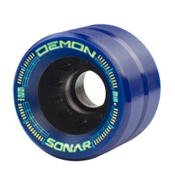 Riedell Demon Roller Skate Wheels - 4 Pack 2016, Blue, medium