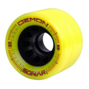 Riedell Demon Roller Skate Wheels - 4 Pack 2016, Yellow, medium