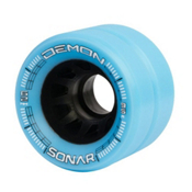 Radar Demon Roller Skate Wheels - 4 Pack, Ice Blue, medium