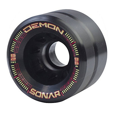 Riedell Demon Roller Skate Wheels - 4 Pack 2016, Black, viewer