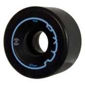 Radar Riva Roller Skate Wheels - 4 Pack, Black, medium