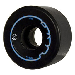 Radar Riva Roller Skate Wheels - 4 Pack, Black, 256