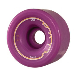 Radar Riva Roller Skate Wheels - 4 Pack, Purple, 256